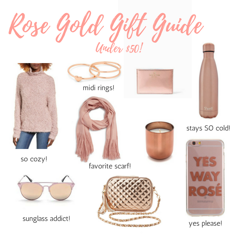 rose gold gift guide under 50